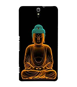 For Sony Xperia C5 Ultra Dual :: Sony Xperia C5 E5533 E5563 Buddha, Black, Buddha Pattern, Printed Designer Back Case Cover By CHAPLOOS