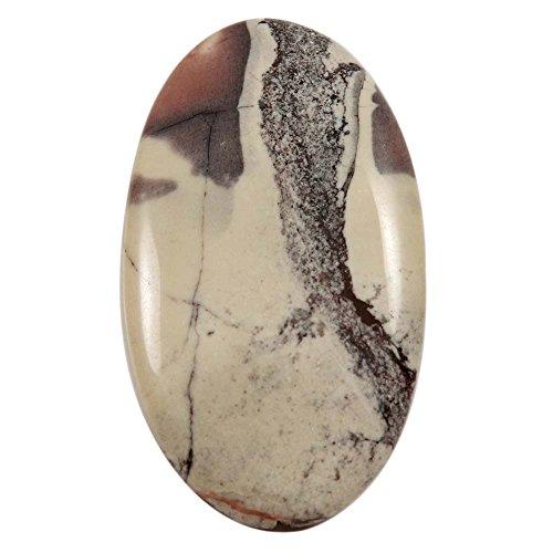 Gems&JewelsHub X 32,5cts Natur Design Porzellan Exotica Jasper Cabochon oval Lose Edelstein (Exotica-anhänger)