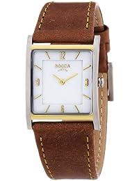 Boccia B3210-02 3210-02 - Reloj analógico de cuarzo para mujer, correa de cuero color marrón