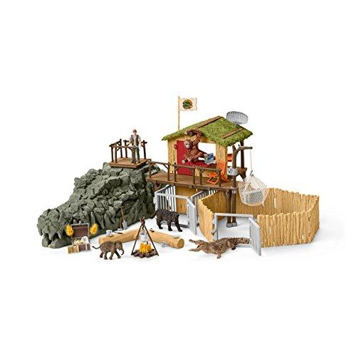 Preisvergleich Produktbild Schleich 42350 - Dschungel Forschungsstation Croco - Spielzeug