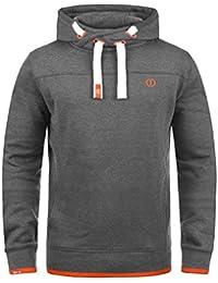 SOLID BenjaminHood Herren Kapuzenpullover Hoodie Sweatshirt mit optionalem Teddy-Futter aus hochwertiger Baumwollmischung Meliert