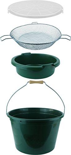Futtereimer einzeln oder als 2 Variationen Set , Volumen Liter:Mit Sieb
