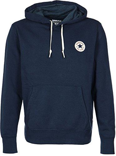 Converse Uomo Nucleo Popover Logo con cappuccio, Blu, Large