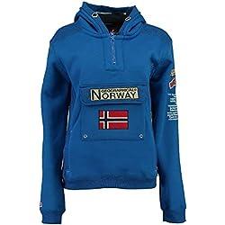 Geographical Norway Sudadera DE Hombre GYMCLASS A Azul ELÉCTRICO S