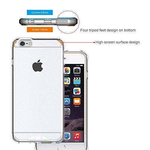 iPhone 7 Hülle Case, iThrough® Liquid Crystal Ultra Dünn Crystal Clear Transparent Handyhülle Cover Soft Premium-TPU Durchsichtige Schutzhülle Backcover Slimcase für iPhone 7 iPhone 6S