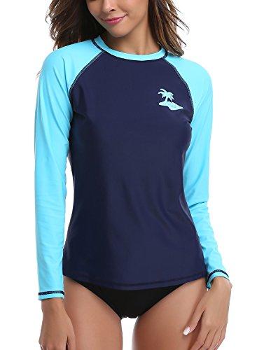 Avellara Damen Rash Guard Langarm UV-Schutz (UPF) 50+ badeanzug Medium (Icon-t-shirt Womens)