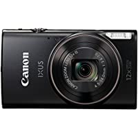 "Canon IXUS 285 HS Compact camera 20.2MP 1/2.3"" CMOS 5184 x 3888pixels Black - Digital Cameras (20.2 MP, 5184 x 3888 pixels, CMOS, 12x, Full HD, Black)"