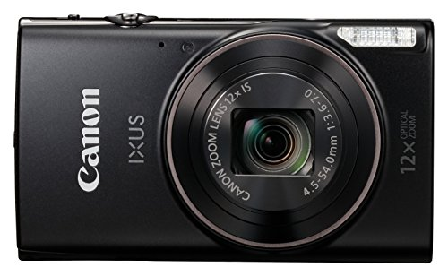 Canon IXUS 285 Compact Camera with 3-Inch LCD Screen - Black 3x Optical Steady Shot