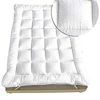 rejuvopedic King Bed Size Microfibre Mattress Topper 3D Massage Bubbbles Fabric**, Box Stitched, 230 TC Cover & Elasticated Corner Straps