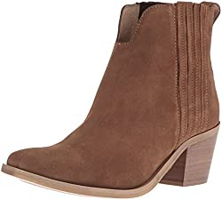 Steve Madden Womens Webster Ankle Bootie, Tan Suede, 8.5 M US