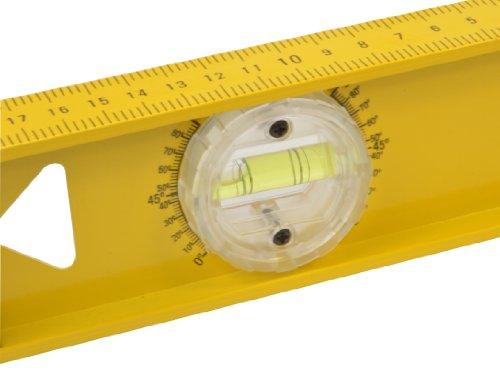 Stanley I-Beam 180° Wasserwaage (Lineal, 100 cm Länge, Aluminium, horizontale/justierbare Libelle, cm, 3 Libellen) 1-42-922