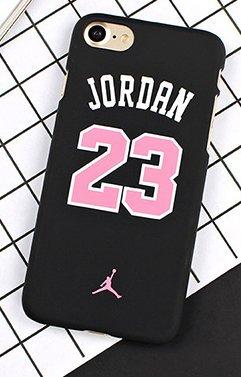 Coque iPhone 5/5S SE Michael Jordan noire et rose 23