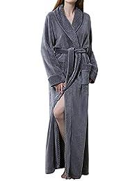 GODGETS Kimono Mujer Batas Hombre Albornoz de Forro Polar baño Toallas Ducha Invierno,Mas Suave