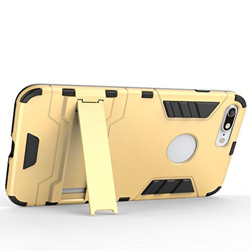 Cover iphone 6s,Custodia iphone 6,Regalo:Vetro Temperato Pellicola Protettiva per iphone 6/6s,Xinyunew Custodia Dual Layer Case ibrida Rigida Morbido Armatura resistente agli urti con Supporto e aspor Nero