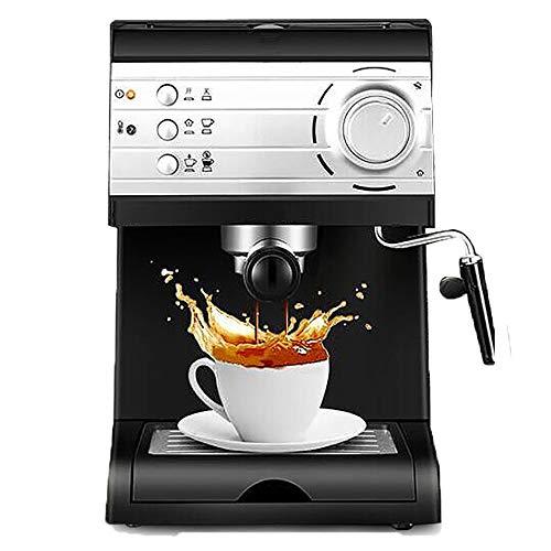 0Bar Elektrische Espressomaschine Halbautomatische Kaffeemaschine Cappuccino Latte Macchiato Mokka Milchaufschäumer ()