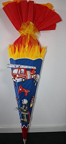 Walter Creativ Bastelset Schultüte Zuckertüte Feuerwehr mit 3D XXL Sticker Design 2 blau -