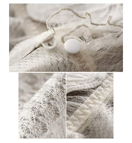 RedAlphabet Unterwäsche aus einem Stück sexy dünner französischer Spitze bestickter Schalen-BH, kein Stahlring, Verstellbarer Brustbereich, vordere Schnalle (Size : 70A=30A=65A) - 6
