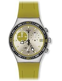 Swatch Unisex Armbanduhren Green Wink Analog Quarz Kautschuk YCS565