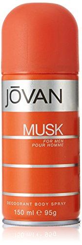 Jovan Musk for men Deo Body Spray, 1er Pack (1 x 0.15 l) (Musk Deodorant Body Spray)