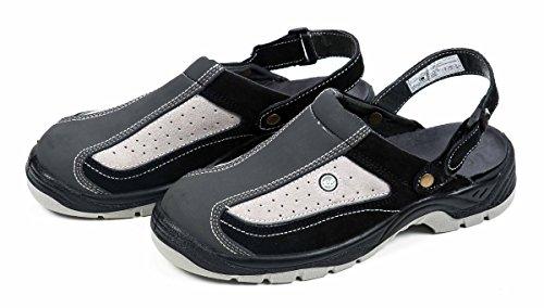 All Ride Sicherheitssandale, Routier Comfort, Klettverschluss, grau/schwarz, Größe (43)