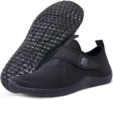 JIASUQI Damen Mode Strand Wasser Schuhe Schnell Trocknend für Pool Sand Schwimmen Surfen Tauchen Wasser Aerobic Schwarz, 36 EU