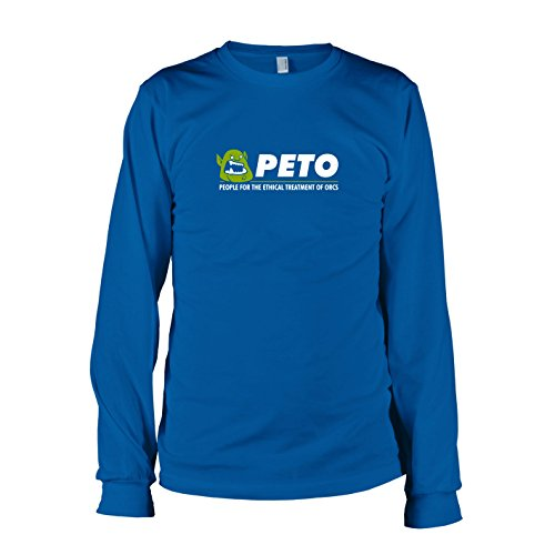 TEXLAB - PETO: People for the Ethical Treatment of Orcs - Langarm T-Shirt Marine