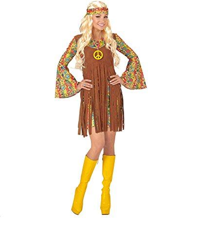 KOSTÜM - HIPPIE - Größe 34/36 (S), 60er 70er Jahre Hippies Schlagermove Flower Power Girl Mädchen Frau (Flower Power Hippie Mädchen Kostüme)
