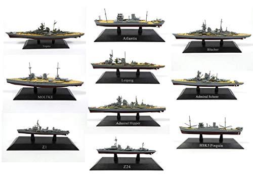 Unbekannt Lot von 10 Kriegsschiffen / Sammlung 1: 1250 (Ref: WSL6) -