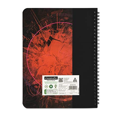 Classmate Pulse Spiral Notebook - 240 mm x 180 mm, Soft Cover, 180 Pages, Unruled Image 2