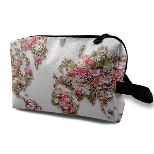 n-Blumen-Karten-Reise-tragbare Make-upbeutel-Reißverschluss-Geldbörsen-Aufhängetasche ()