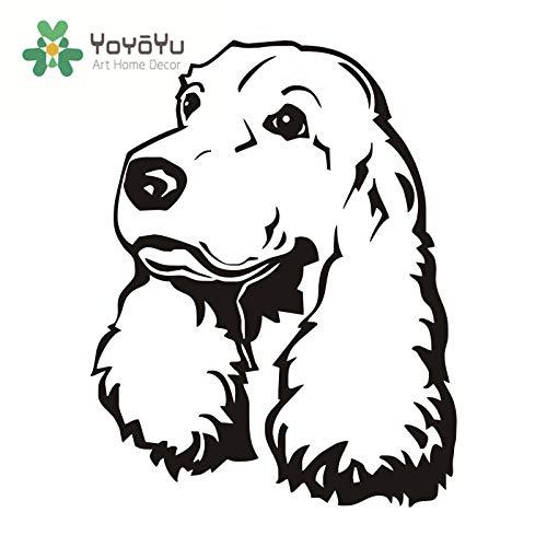 Cocker Spaniel Wandtattoo Cute Puppy Dog Schlafzimmer Wandvinyl Aufkleber Kunst Carving Wohnzimmer Haustier Zimmer Aufkleber 73X57 cm -