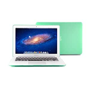 GMYLE Matte Frosted Hard Case Cover for Macbook Air 13 inch (Model: A1369 and A1466) - Aqua Green