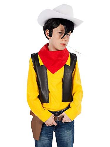 Maskworld Lucky Luke Kinderkostüm Comic Cowboy Western Kostüm für Kinder 4-teilig - Kind Western Cowboy Kostüm
