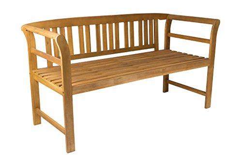 SAM 3-Sitzer Gartenbank Samos, Akazien-Holz geölt, FSC 100% Zertifiziert, Holzbank, massives Garten- & Balkonmöbel