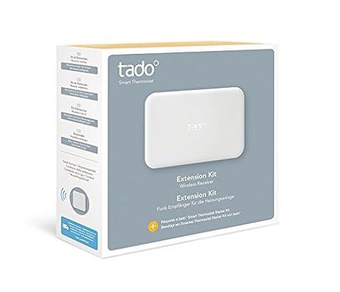 tado° Kit d'Extension (produit complémentaire) - récepteur radio pour les systèmes de chauffage des logements individuels - sans thermostat d'ambiance ou avec thermostat sans fil