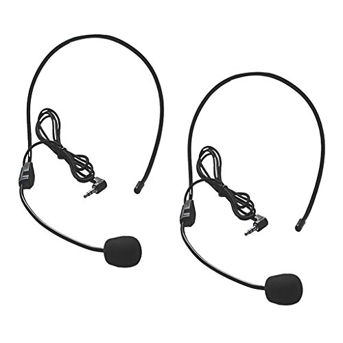 MagiDeal 2 Pezzi 3.5mm Jack Audio Connettore Condensatore Cuffia Mic Flessibile Boom per Guida Turistica Vendita Discorso Karaoke Skype