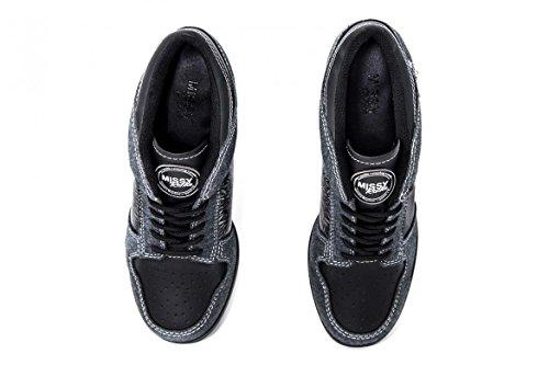 Sportliche High Heels Black Mandala Black/Darkgray Elegant wie ein High Heel - Bequem wie ein Sneakerschuh schwarz/ dunkelgrau