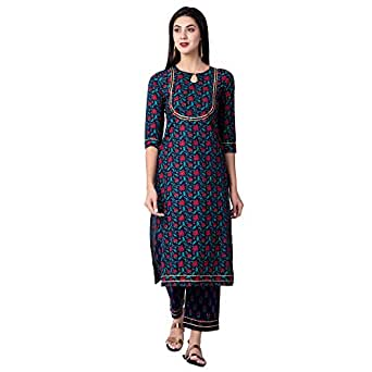 GULMOHAR JAIPUR Women's Cotton Readymade Salwar Suit