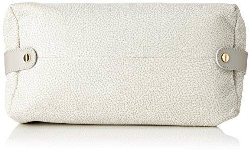 Borbonese 913244648, Borsa a Mano Donna, 28 x 19 x 14 cm (W x H x L) Grigio (Light Grey)