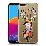 Head Case Designs REH Tierische Blumensilhouetten Ruckseite Hülle für Huawei Honor 7C / Enjoy 8