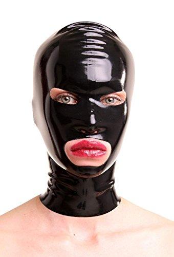 Anita Berg AB4026Z Latex-Maske RV, Öffnungen Augen Mund, S schwarz