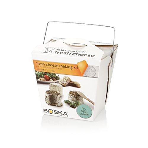BOSKA Frischkäse-Set Explore für 8 Stück, Edelstahl, Mehrfarbig, 10 x 10 x 9 cm, 12-Einheiten