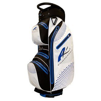 Powakaddy 2016 Dri Edition Mens Cart Bag Trolley Golf Waterproof Bag 14-Way Divider White/Blue by Powakaddy