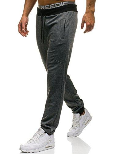 BOLF Herren Sporthose Trainingshose Jogger Street Style RED FIREBALL W2796 Schwarz M [6F6]