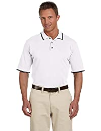 Harriton 6 oz. Short-Sleeve Piqué Polo with Tipping