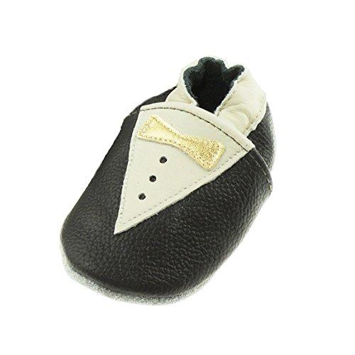 Glamour Girlz Wunderschöne Echt Leder Baby Jungen Leder First Walker Lapsus Smoking Schuhe (Jungen Santa Anzug)
