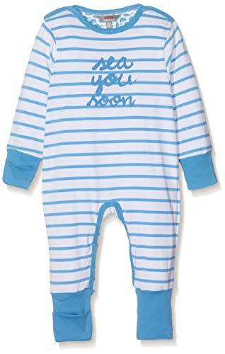 Kanz Unisex Baby 1tlg. Schlafanzug Schlafstrampler, Blau (Azure Blue 3710), 86