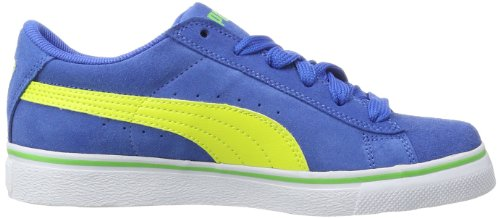 Puma Puma S Vulc Jr 350732 Unisex-Kinder Sneaker Blau (victoria blue-fluro yellow-fluro green 31)