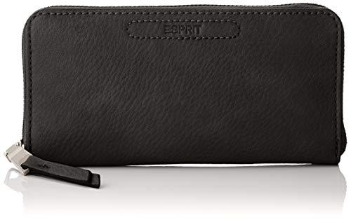 Esprit Accessoires Damen Tori Caszipcltc Geldbörse, Schwarz (Black), 2x9,5x19 cm