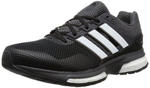 adidas Response Boost 2, Chaussures de Running Compétition Homme Noir (Core Black/Ftwr White/Dgh Solid Grey)
